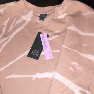 wild fable Tops - Woman's Tie-Dye Splitneck Sweatshirt
